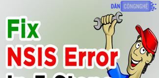 cách sửa lỗi nsis