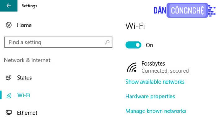 Ứng dụng tính năngMetered Connection