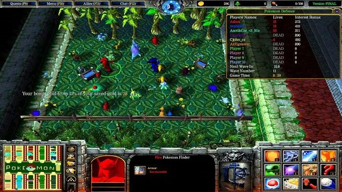hình ảnh map pokemon defense final