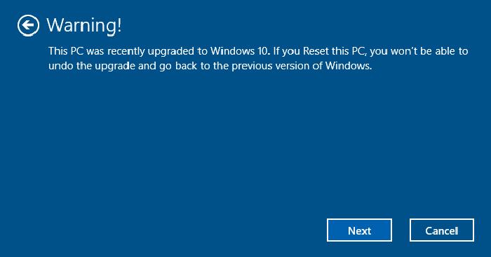 Reset PC và giữ lại các tập tin cá nhân 7