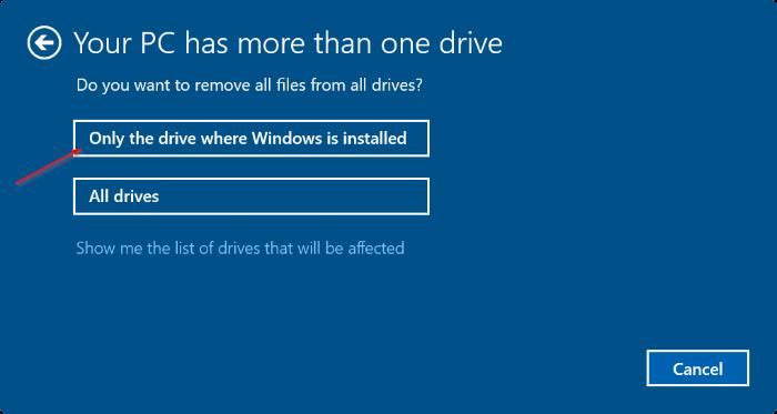 Reset máy tính về trạng thái như mới bước 4.1