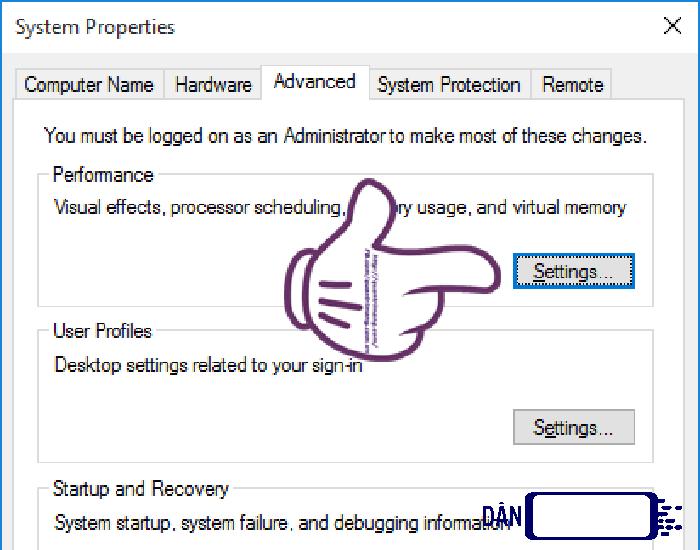 Tăng hiệu suất hoạt động của máy tính bước 1